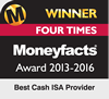 Winner: Best Cash ISA Provider, Moneyfacts Awards 2016