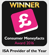 ISA Provider of the Year: Consumer Moneyfacts Awards 2016