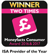 Winner: Best ISA Provider, Consumer Moneyfacts Awards 2017